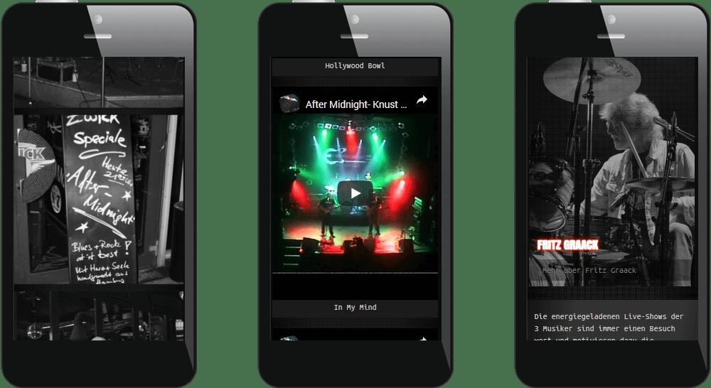 Mobiles Webdesign - Musiker Hamburg
