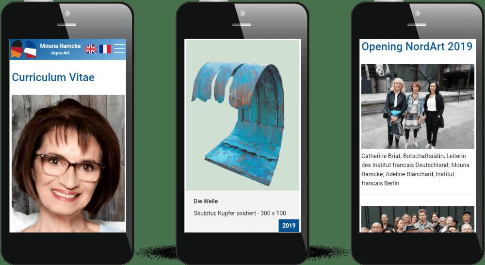 Vita, Galerie und Blog-Darstellung auf Smartphones durch Responsive Webdesign