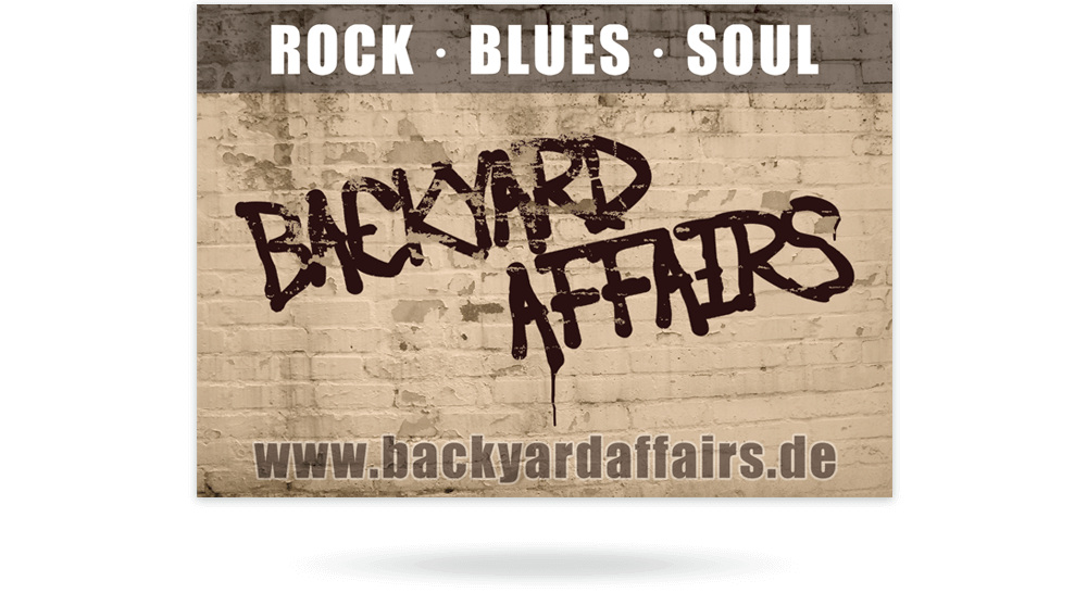 Flyer DIN A6 Backyard Affairs - Vorderseite