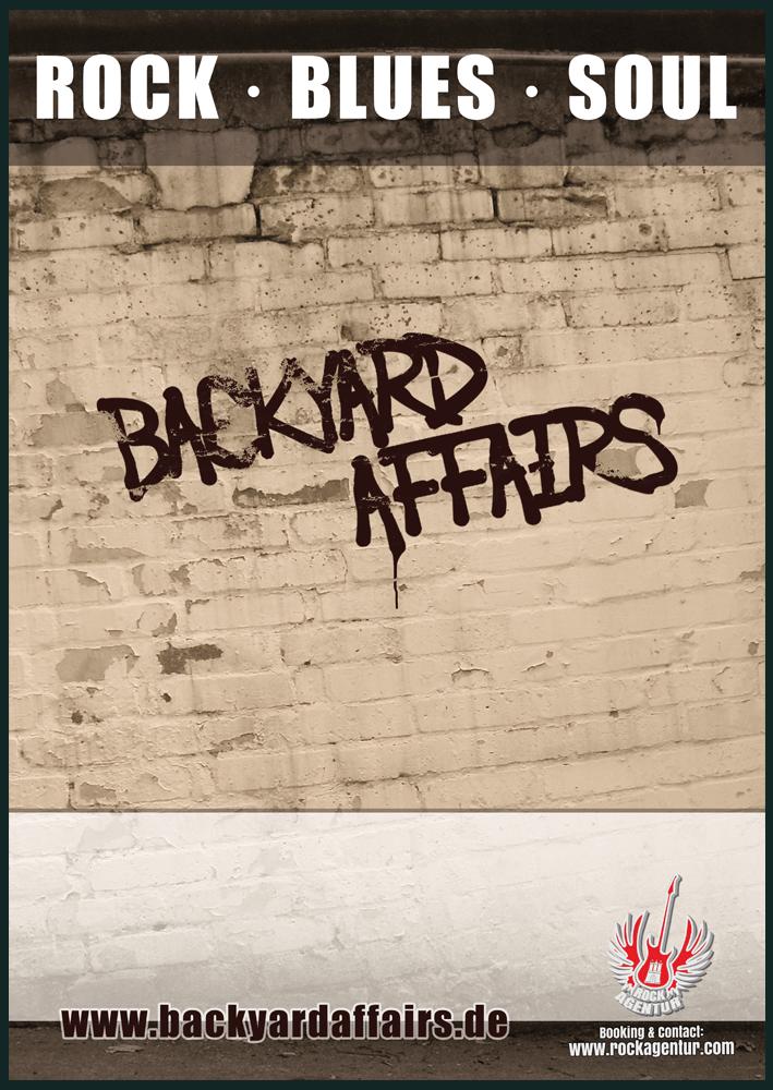 Plakat Backyard Affairs Geesthacht