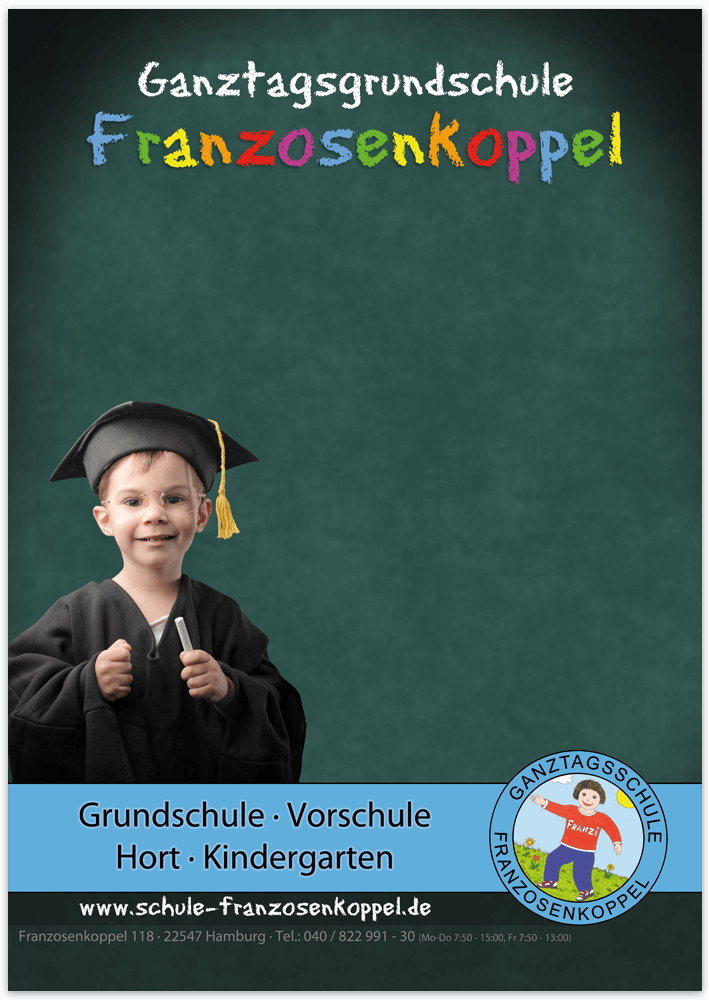 Plakat Grundschule Franzosenkoppel Hamburg