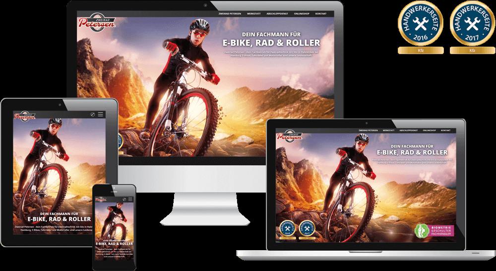 Handwerker-Website des Jahres 2016 und 2017 in der Kategorie KFZ