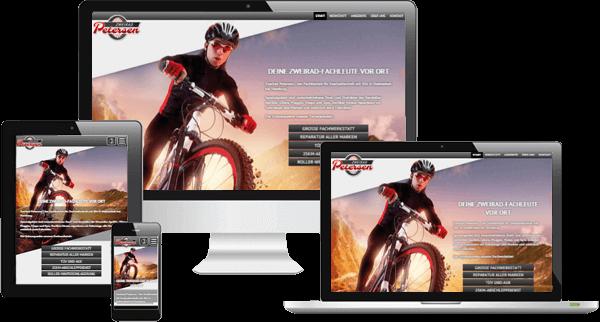 Zweirad Werkstatt - mobil optimierte Website