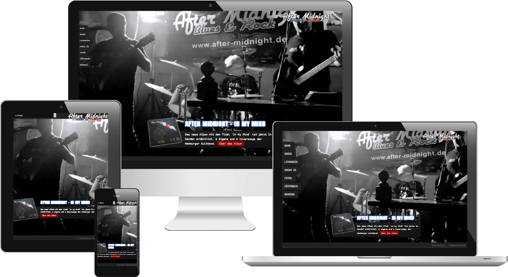 Rockband Hamburg - mobiloptimiertes Webdesign