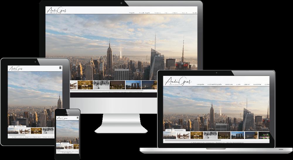 mobiloptimierte Website - Fotografie und Grafik