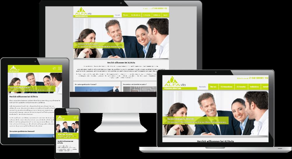 Responsive Webdesign - Personalvermittlung