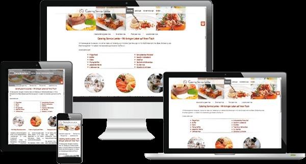 Responsive Webdesign für Catering Service Lemke