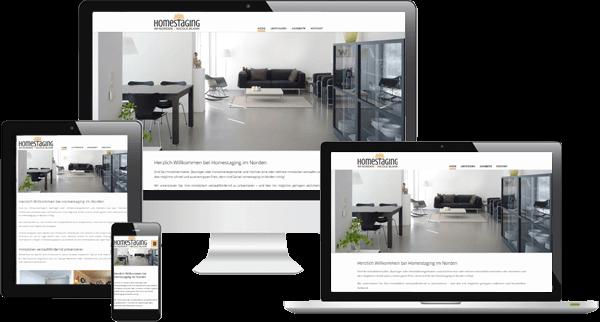 Responsive Webdesign - Home Staging Unternehmen aus Pinneberg