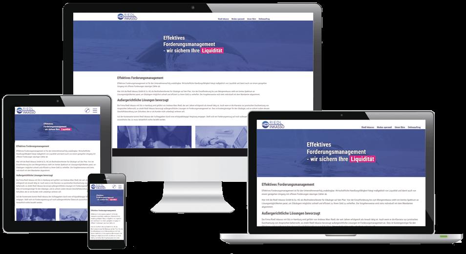 Responsive Webdesign Riedl Inkasso
