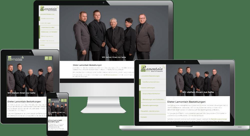 Responsive Webdesign - Bestatter-Homepage
