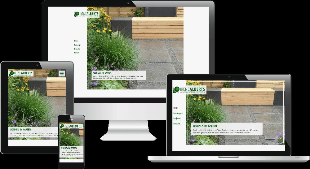 Homepage mit Slider - Darstellung des Responsive Webdesign auf verschiedenen Bildschirmen