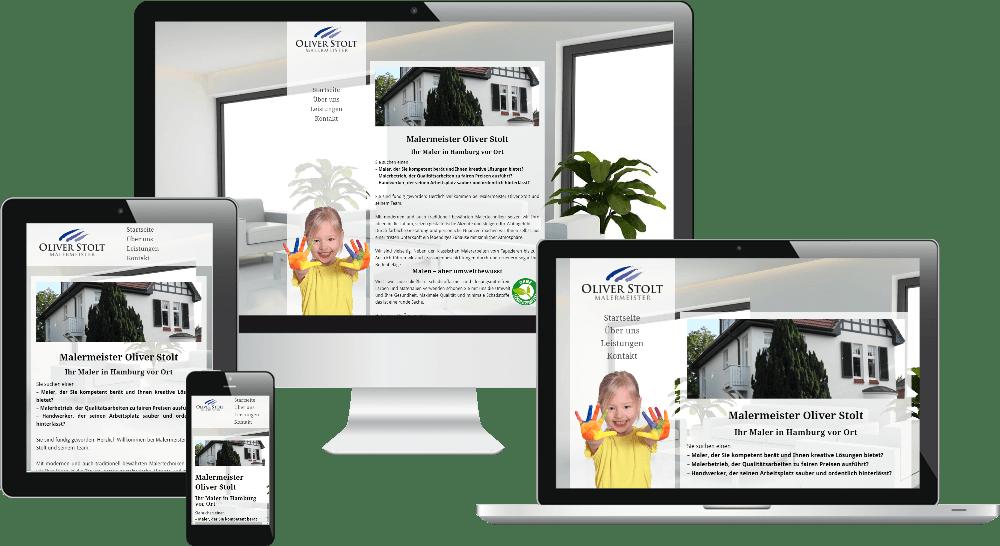 Mobiles Webdesign - Maler Stolt Hamburg