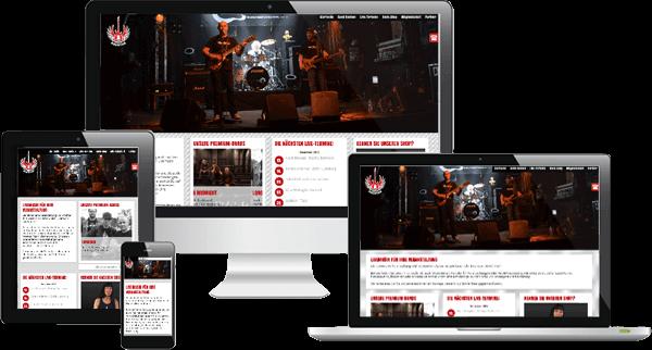 Mobiloptimierte Homepage mit Onlineshop - Rockagentur Hamburg