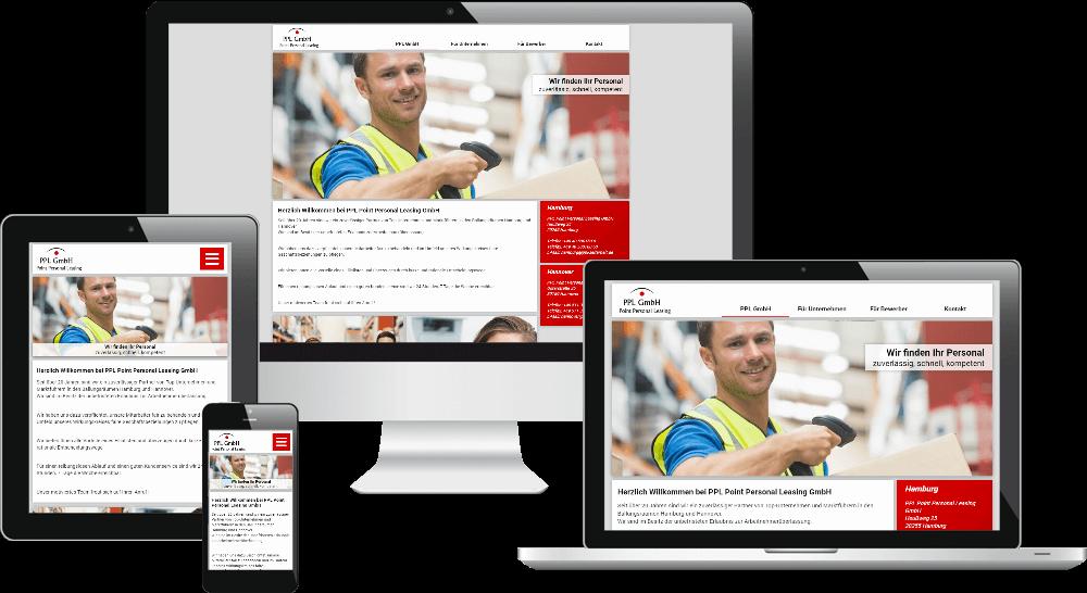 Responsive Webdesign Zeitarbeits-Firma