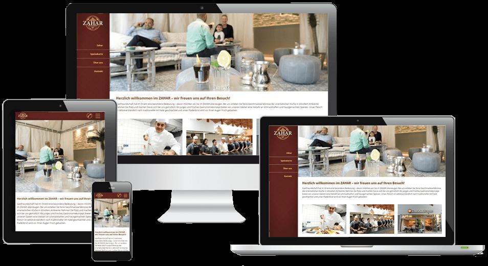 Responsive Webdesign Restaurant ZAHAR