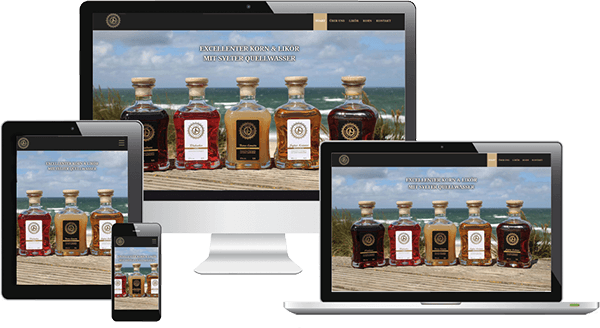 Webdesign für Sylter Spirituosen-Hersteller mit bildlastigem Design