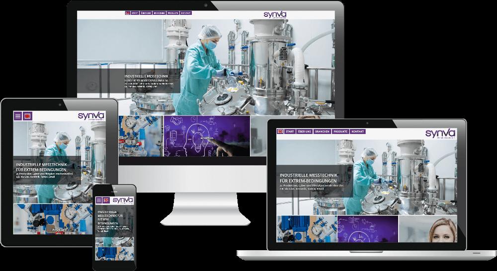 Responsive Webdesign Verfahrenstechnik-Firma