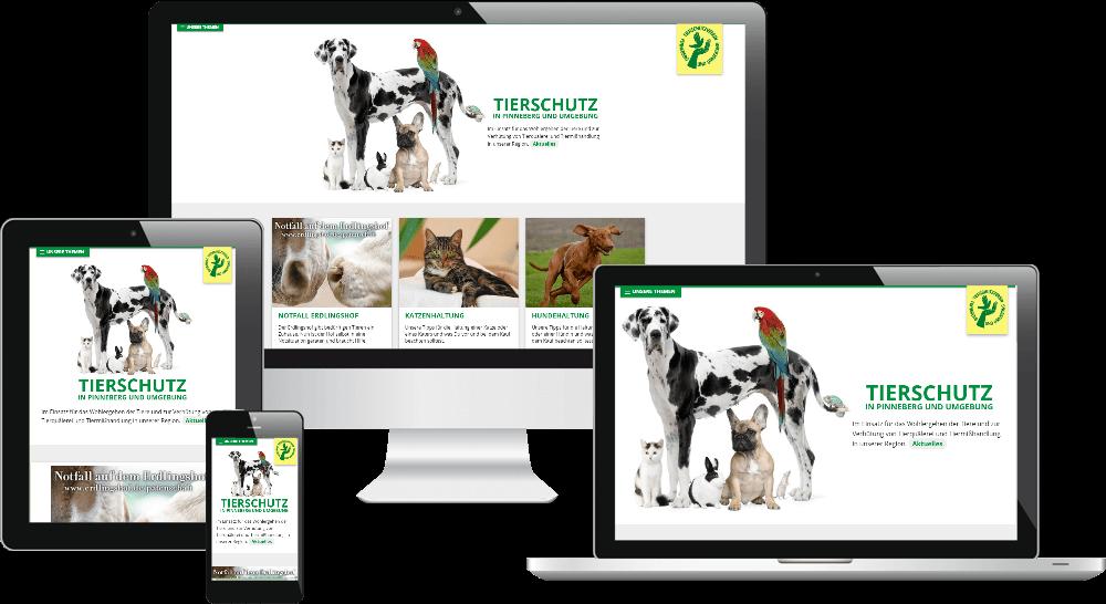 Webdesign-Ansicht auf verschiedenen Bildformaten