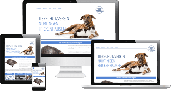 Website in Mobilansicht - Tierschutz Nürtingen