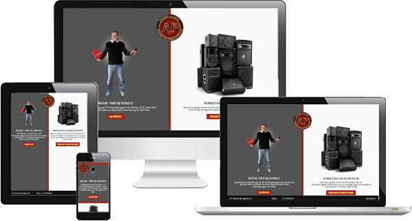Mobiloptimiertes Webdesign - Veranstaltungsservice