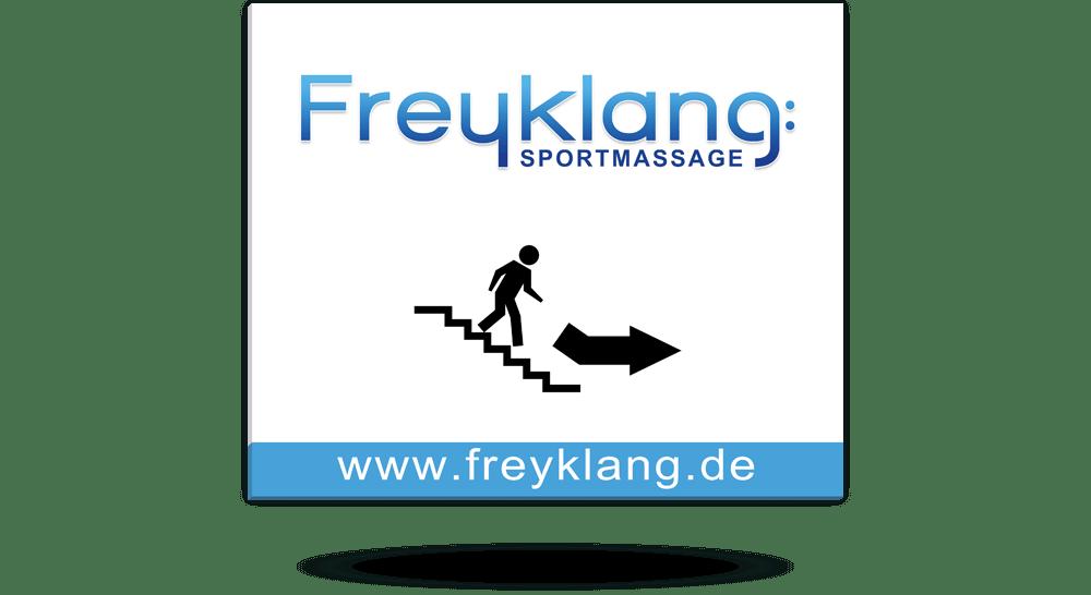 Werbetechnik - Schild Direktdruck Sportmassage Halstenbek