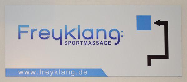 Sportmasseur - Schilder aus Aluminium bedruckt