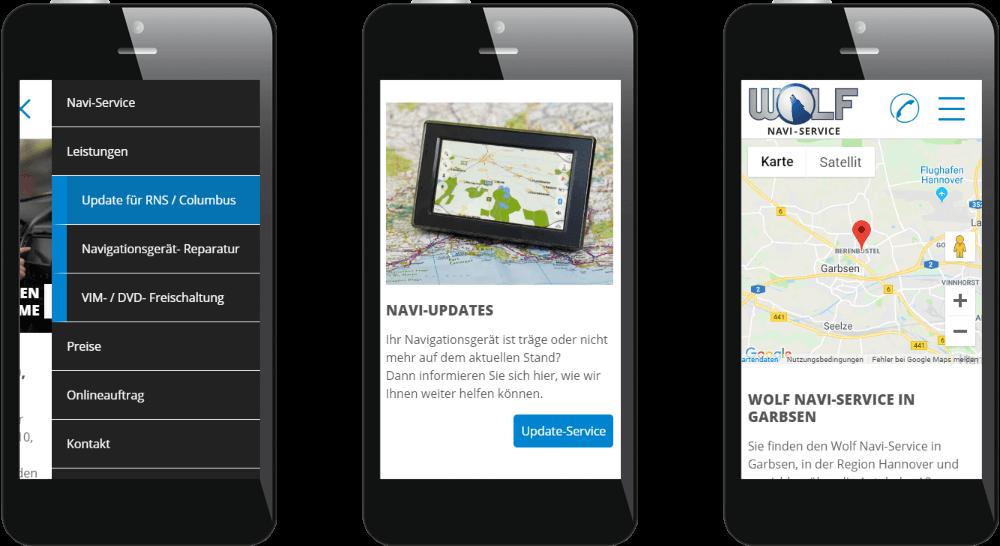 Homepage mit Kundenbewertungen