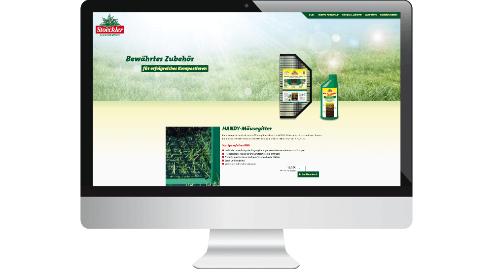 Stoeckler-Garten - Website Darstellung auf dem Desktop-PC