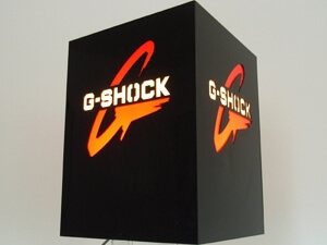 Werbetechnik - Aufsteller beleuchtet mit Logo