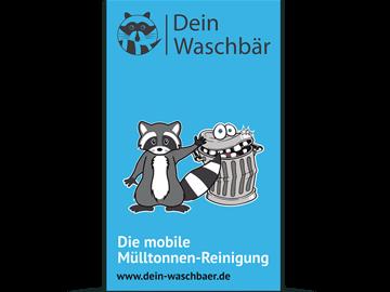 Aluverbundschilder und Werbefolien für Mülltonnenreinigung