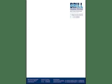 DIN A4 Briefpapier für Industrievertretung