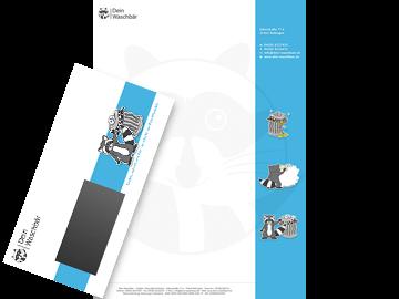 Professionelles Briefpapier und Briefumschläge für Mülltonnenreinigung