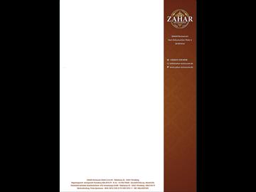 Briefpapier mit Ornamenten für orientalisches Restaurant