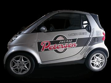 KFZ-Werbung - Autobeschriftung für Zweirad-Mechaniker