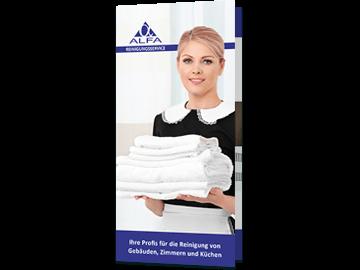 Faltflyer für Reinigungs-Firma aus Pinneberg