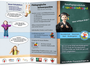 6-Teiliger Falzflyer - Grundschule Hamburg