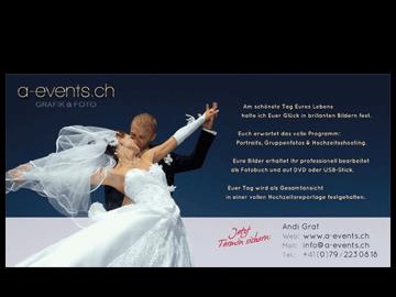 Flyer Hochzeitsfotograf Schweiz