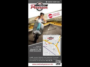 Einfacher Flyer in DIN Lang für Motorroller