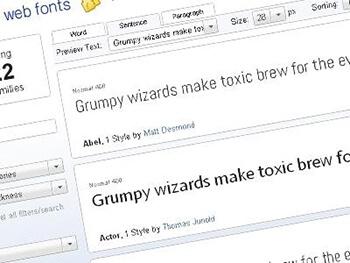 Einsatz von Google Fonts
