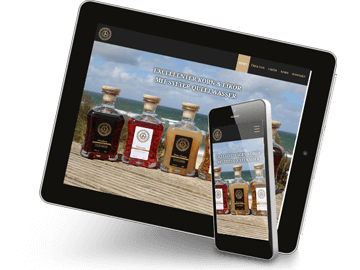 Responsive Website Spirituosen-Hersteller Sylt