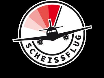 Logodesign - rundes Emblem mit Flugzeug-Piktogramm