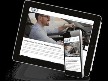 Website für Navi-Reparatur-Dienstleister