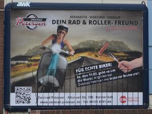 Grossflächenplakat für KFZ Werkstatt aus Halstenbek