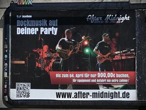 Grossflächenplakat für Rockband aus Schenefeld