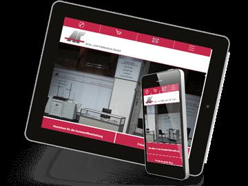 Firmen-Homepage mit Webshop Maschinenbau Buchholz