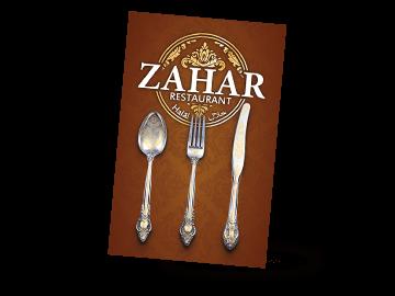 Visitenkarte im orientalischen Stil für Restaurant in Kiel