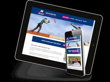 Dachdecker-Website mobiloptimiert