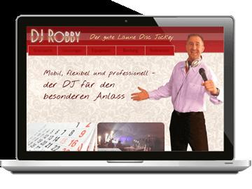 Webdesign - Disc Jockey CMS mit Buchungssystem