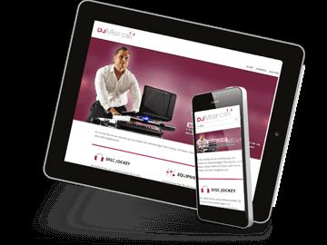 Mobiles Webdesign - DJ Hamburg