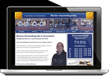 Webdesign Elektrohandel Schenefeld Homepage